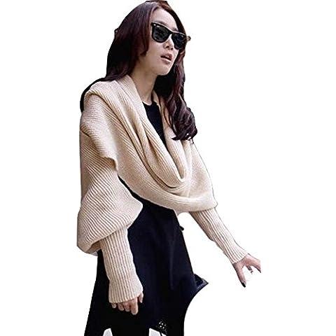 Mujer con bufanda crema con funda, chaqueta, jersey, sudadera, punto wear, Causal desgaste tamaño 8–10–12