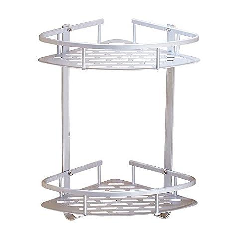 Swallowzy Bathroom Corner Shelf, Durable Aluminum Sticky No Drills Shelf
