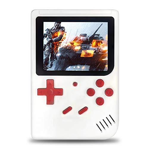 Jamicy® Handheld Spielkonsole, Handheld Konsole 3 Zoll Bildschirm Eingebaute 500 Klassische Spiele, Tragbare Arcade Erholung System Geburtstagsgeschenk für Kinder, 750 mAh (Weiß) -