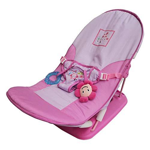 Babystuhl Faltbare Babyschale Neugeborene Freizeit Verstellbarer Klappstuhl Kleinkind Musik Travel Lounge Chair Sofa Rosa