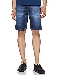 Amazon Brand - Symbol Men's Denim Shorts