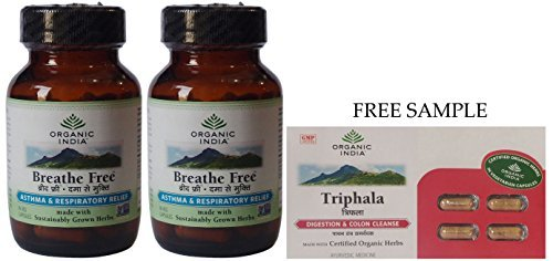 organic-india-breathe-free-60-veg-capsules-pack-of-2-free-expedited-shipping-via-dhl-express-deliver