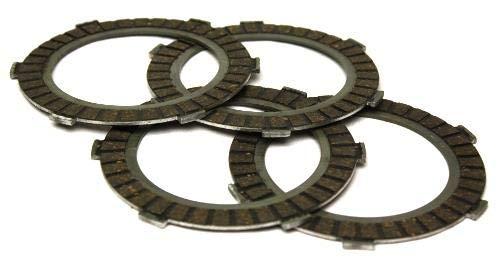 Kupplungslamellen Set (4 Stück) für Zündapp Mofas mit 2 3 4 5 Gang Motoren, ZD 20, ZD 25,TS 40,TS 50,CS 25,C 50 Sport,CS 50, GTS 50,KS 50,alle Modelle - Hai 25/50,ZX 25,X 25,ZL 25,ZS 25,ZE 40 uvm -
