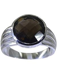 Pretty-pretty Smoky Quartz 925 Sterling Silver Brown Ring Wholesales L-1.2in IN 13