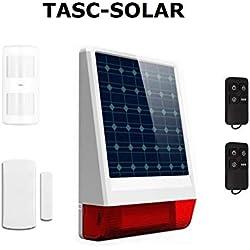★★★★★ Alarma SIN cuotas SOLAR y GSM/SMS (con tarjeta SIM), funciona SIN corriente eléctrica ★★★★★