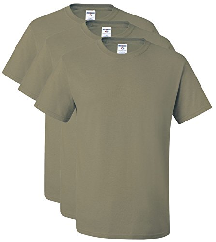 Jerzees Herren T-Shirt beige khaki XXXXX-Large (US Size) (US Size) (Baumwolle-khaki Jerzees)
