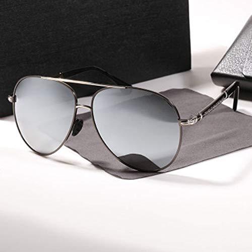 LKVNHP Neue Hohe Qualität 158Mm (Max Bis 168Mm) Übergroße Polarisierte Männer Sonnenbrille Hd Getönte Fahrschutz Breites Gesicht Sonnenbrille Für Mann Uv400Silber