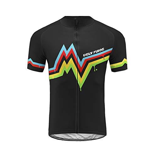 Uglyfrog Magliette Ciclismo Uomo,Maglia Ciclismo Uomo Breve,Maglietta Bicicleta,Camicie Ciclismo per Uomo XSNX03