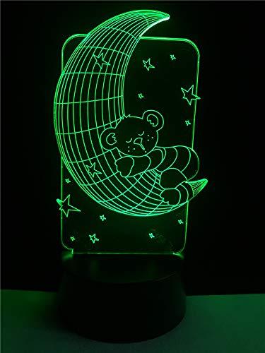 orangeww 3d Visuelle Illusion Lampe / 7 Farbwechsel Nachtlichter/schreibtisch Dekoration Lampen/weihnachtsgeschenk/geburtstagsgeschenk/Cartoon Bier Schlaf -