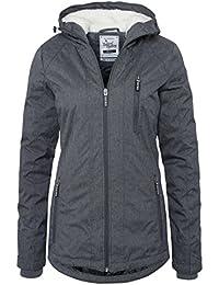 SUBLEVEL Damen Winterjacke | Warme Sportliche Jacke mit Kapuze in Blau & Grau