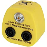 LINDY UK Anti-Static Earth Bonding 1 x 10 mm Stud and 2 x 4 mm Banana Socket Plug