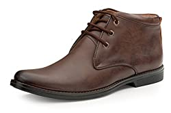 Escaro Mens Brown Formal Ankle Boots (ES1107KB_Brown_9)