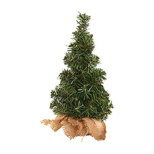 Kentop Weihnachtsbaum Mini Künstlicher Tannenbaum Desktop kleiner Bonsai Mini Christbaum für Home Wohnzimmer Decoration Christmas Geschenk size 30cm