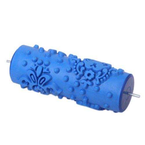 TOOGOO(R) 15cm Wand Dekoration Empaistic Blume und Punkt Muster Farbroller fuer Dekoration Machine - Blau (Farbroller Für Wand-dekoration)
