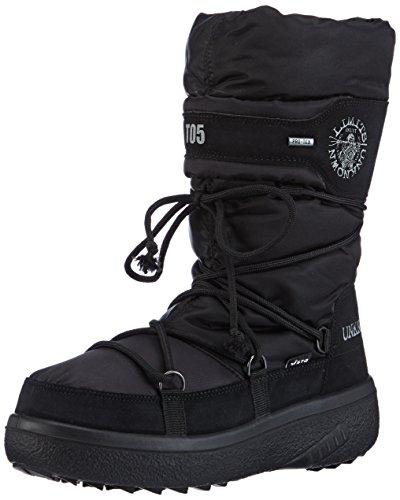 Vista Damen Winterstiefel Snowboots schwarz, Größe:41;Farbe:Schwarz (Bein-boot Block-ferse,)