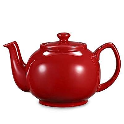 Urban Lifestyle Cambridge Théière Classique en céramique avec Filtre à thé en Acier Inoxydable 1,6 l