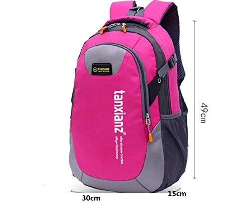 LQABW Spielraum-Schulter-Lichtwasserdichte Sport Im Freien Backpacking Camping Bergsteigen Wandern Rucksack Tasche LightPurple
