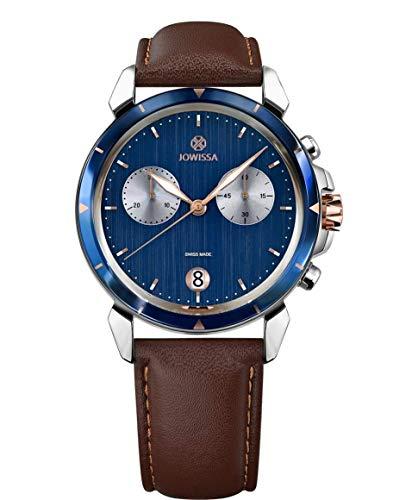Jowissa LeWy 6 Swiss J7.018.L - Reloj de Pulsera para Hombre, Color Azul, marrón y Plateado