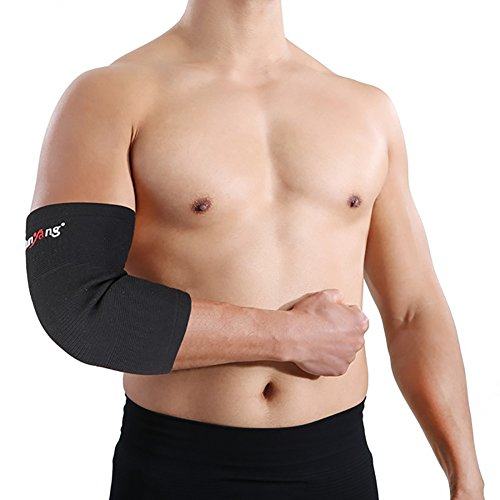 uniqueaur Outdoor Schweiß Schutz Arm-, Fitness Reit Laufen Arm Guard Basketball Sports Elbow Sleeve Pad Cover Bandage, Schwarz, M