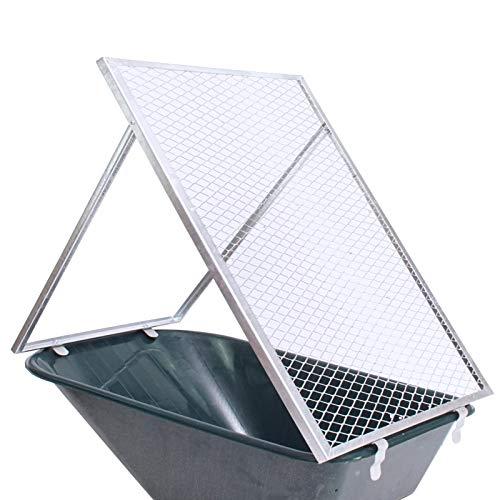 TRUTZHOLM Schubkarren Durchwurfsieb Gartensieb Sieb Kompost Gitter Durchwurfgitter Erdsieb (100x60cm)