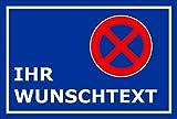 Schild - Parken verboten - Ihr Wunsch-Text - 60x40cm | stabile 3mm starke Aluminiumverbundplatte – S00020T-E +++ in 20 Varianten erhältlich
