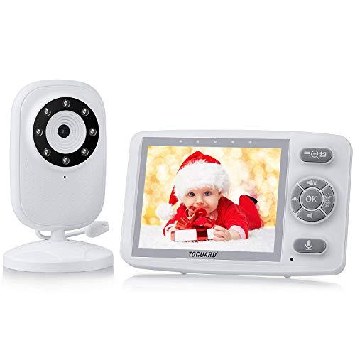 Babyphone mit Kamera, TOGUARD Babyfon 3,5 Zoll Video Baby Monitor Nachtsicht Temperaturüberwachung VOX Funktion Gegensprechfunktion Schlaflieder Lange Batterielebensdauer