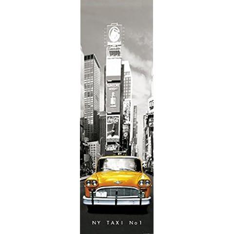 New York - Taxi No 1, Yellow Cab Al Times Square, 1 Parte Poster Carta Da Parati Fotomurale (250 x