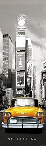 New York Papier Peint Photo/Poster - Taxi No 1, Yellow Cab Sur Times Square, 1 Partie (250 x 79 cm)