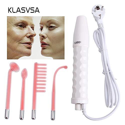Darsonval Zauberstab 4in1 High Frequency Entferner Gesichtspflege Gesichtspflege Spa Salon Akne Therapie Gerät + 1 EU-Adapter Glaselektrode -