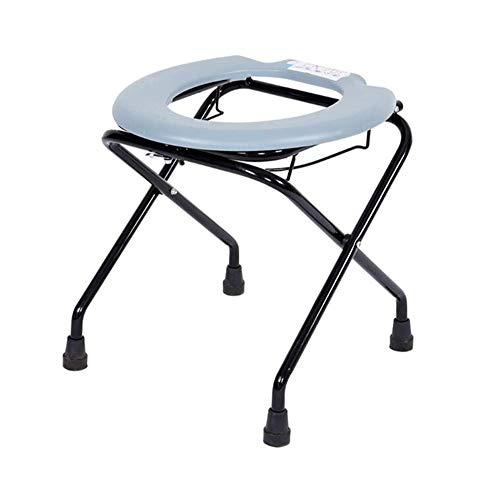 Tragbare Toilette Stühle (SHOWGG Bettkommode Stuhl Mobilität Multifunktions Tragbare Toilette Faltbar Einfach Ohne Werkzeug Montage Senioren & Handicap)