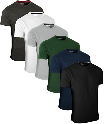 Full Time Sports 6 Pack Sortiert Rundhals T-Shirts (1) Small