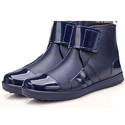 Newest–Botas de tobillo de PVC, impermeable resistente de alta palanca jardín Mules rainshoes