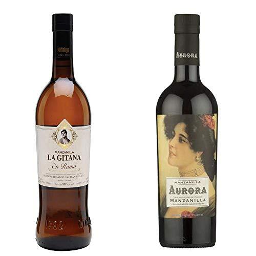 Manzanilla La Gitana En Rama Y Manzanilla Aurora - D. O. Manzanilla De Sanlúcar De Barrameda - 2 Botellas De 750 Ml