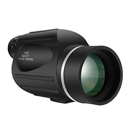 13X50 Hochleistungs Monokular,SGODDE Helles und Klares Sichtfeld,High-End optisches System kompakt,Wasserdicht, Anti-Beschlag-Beschichtung, Optimal Geeignet für die Vogel- oder Tierbeobachtung und Rei
