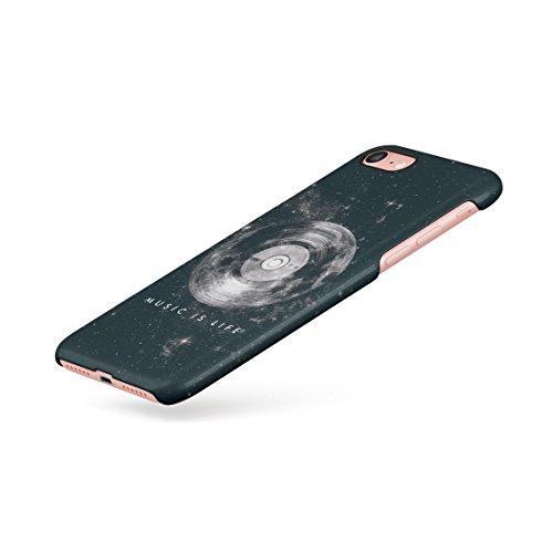 Music Is My Life Stars Galaxy Dünne Rückschale aus Hartplastik für iPhone 7 & iPhone 8 Handy Hülle Schutzhülle Slim Fit Case cover Music Is Life