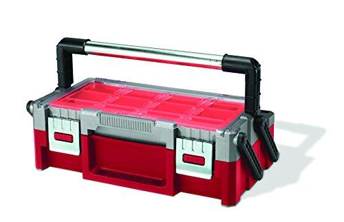 """Curver 222628 Caja de herramientas Cantilever 18"""", Rojo Y Gris, 43.8x12.5x22 cm"""