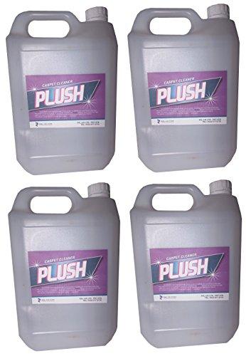 4x 5L Leistungsstark Stärke Teppich Reinigung Lösung Shampoo–Schmutz Ruß Fleckenentferner–Wolle Sicher