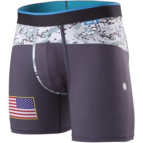 Stance Boxer-Shorts Wholester Military Flag Schwarz (Small, Schwarz) -