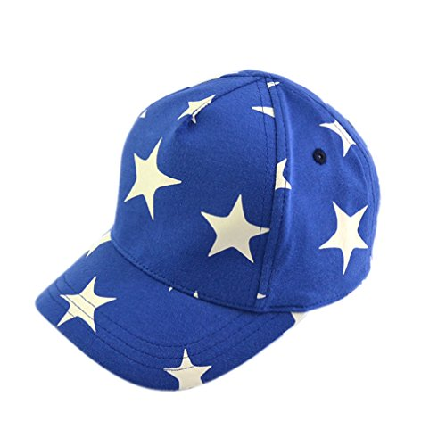 Lukis Kinder Hut Baseball Kappe Hip Hop Cap verstellbar Baseballmütze Stern 2-4 Jahr (Caps B50)