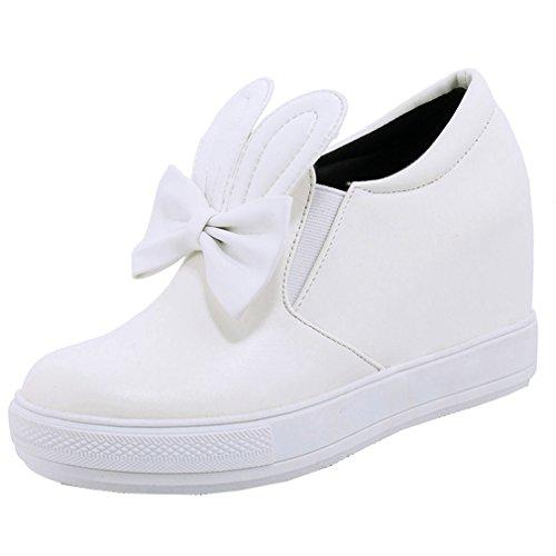 Caviglia Rotonda Hanno Flatform Bianco Della Casuale Enmayer Signore Aumentando Papillon All'altezza Con Punta Attrezzature Delle Scarpe Donne Delle wzz7nABq8