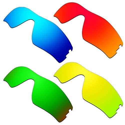 HKUCO Ersatz-Brillengläser für Oakley Radar Pitch Rot/Blau/24 Karat Gold/Grün Sonnenbrille