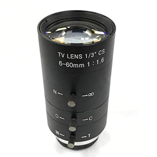 Heaviesk CCTV Video Objektiv Handbuch IRIS ZOOM 6-60mm CS Mount Objektiv Für Industriemikroskop Vario CCTV Objektiv Überwachungskamera Objektiv -