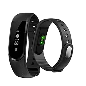 sampi Fitness Tracker OLED Screen Display Smart Wristband with Heart Rate Monitor, Sleep tracker, Pedometer, Calories & Distance Calculator , Anti Lost Funtion Controlled with Smart App compatible with Lenovo Vibe Z2 Pro by- sampi