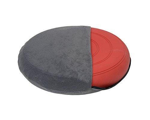 Bezug für Ballsitzkissen Ø 36cm, Bezug: Suedine, schwarz, grau, braun, rot, blau oder grau (grau)
