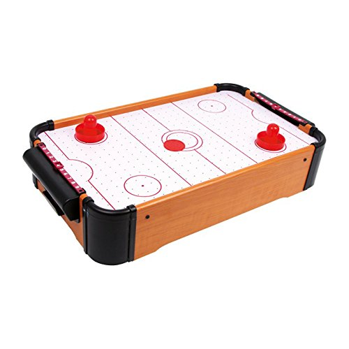 Small Foot by Legler Tisch-Air Hockey mit 1 Puck und 2 Schlägern sowie Punkteschieber, kann auf jeder Tischplatte platziert werden, fördert die Motorik und Hand-Augen-Koordination (Mini-hockey-tisch)