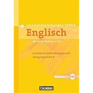 Vorbereitungsmaterialien für VERA - Englisch / 8. Schuljahr: Erweiterte Anforderungen - Arbeitsheft mit Audio-Materialien