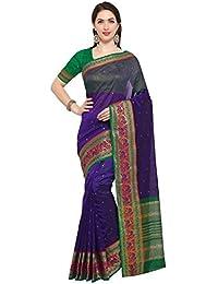 G Stuff Fashion Women Cotton Silk Saree With Blouse piece_TA-41_Dark Blue Elephant saree
