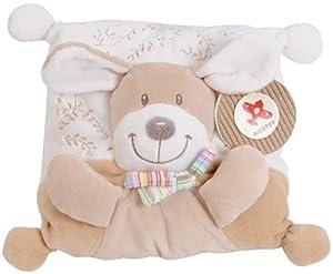 Simba 6305790876 Nicotoy Baby - Almohada para bebé con perrito, 21 x 21 cm Importado de Alemania