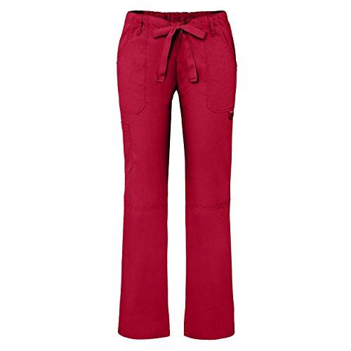 Medizinische Schrubb-hosen - Damen-Krankenhaus-Uniformhose 510 Color RED | Talla: M (Elastische Taille Uniform Kordelzug)