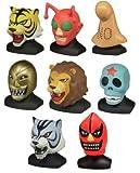 SET 8 Figure / Busti UOMO TIGRE Tiger Mask MASCHERE Gashapon TOMY Japan
